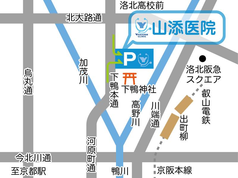 山添医院に車でお越しの方MAP